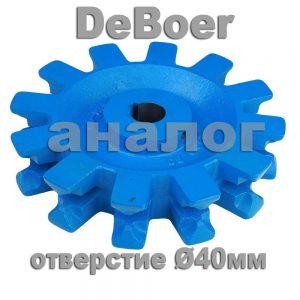 Звездочка De Boer Ø 40мм, 2-я замена
